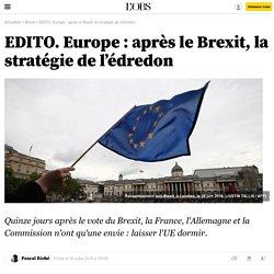 EDITO. Europe : après le Brexit, la stratégie de l'édredon