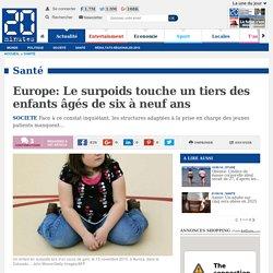 20MINUTES 01/06/16 Europe: Le surpoids touche un tiers des enfants âgés de six à neuf ans