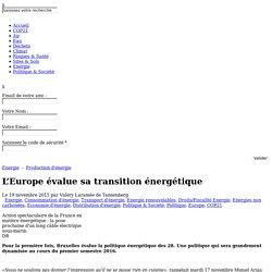L'Europe évalue sa transition énergétique
