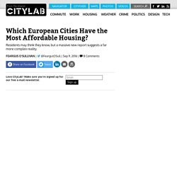 The European Cities With the Most Affordable Housing