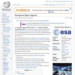 European Space Agency - Wikipedia
