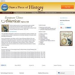 European Views of the Americas: 1493-1750
