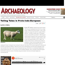 Telling Tales in Proto-Indo-European