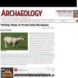 Telling Tales in Proto-Indo-European