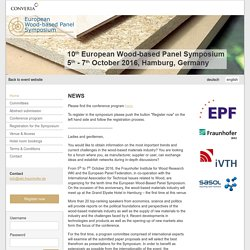 Home – 10th European Wood-based Panel Symposium