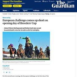 European challenge comes up short on opening day of Breeders' Cup