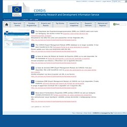 European Commission: CORDIS: FP7: EMM