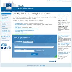 European Commission : Market Access database : Home