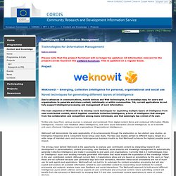 FP7 : ICT : Content and Knowledge : Projects