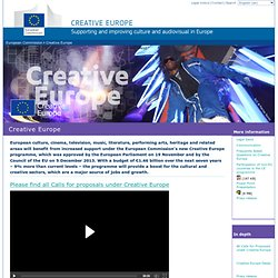 European Commission - Creative Europe: support programme for Europe's cultural and creative sectors from 2014