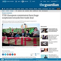 TTIP: European commission faces huge scepticism towards free trade deal