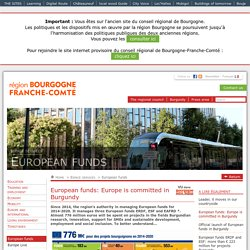 European funds: Europe is committed in Burgundy (Area Services / European Funds)