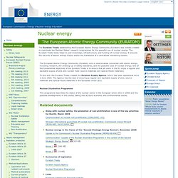Energy: The European Atomic Energy Community (EURATOM) - European commission