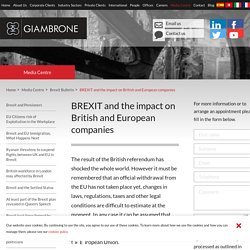 BREXIT and the impact on British and European companies - Giambrone Law