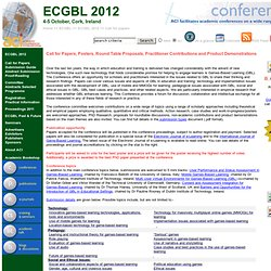 6th European Conference on Games Based Learning