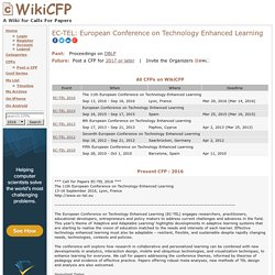 EC-TEL: European Conference on Technology Enhanced Learning 2017 2016 2015 ...