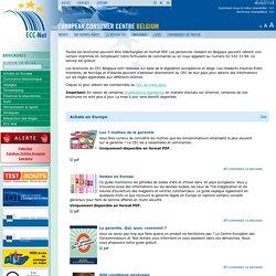 ECC-Net - European Consumer Centre Belgium