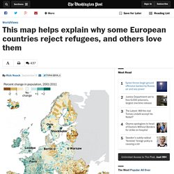 This map helps explain why some European countries reject refugees, and others love them