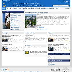 European Court of Human Rights - Home page