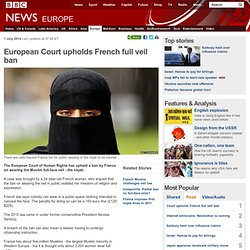 European Court upholds French full veil ban