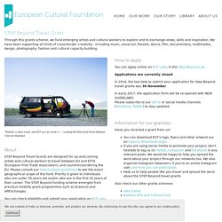 STEP Beyond grants - European Cultural Foundation