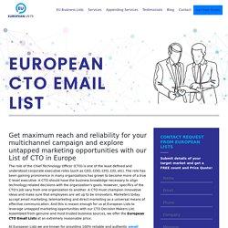CTOs Mailing Database of Europeans