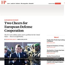 Two Cheers for European Defense Cooperation