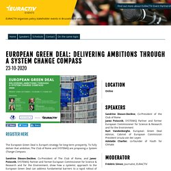 European Green Deal: delivering ambitions through a System Change Compass