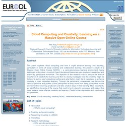 European Journal of Open, Distance and E-Learning