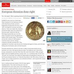 The Holy Roman Empire: European disunion done right