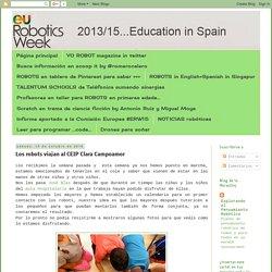 European Robotics Week Education #ERW2016: Los robots viajan al CEIP Clara Campoamor