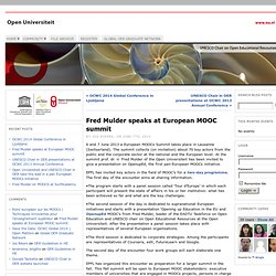Fred Mulder speaks at European MOOC summit « UNESCO Chair on Open Educational Resources