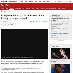 European elections 2019: Power blocs lose grip on parliament