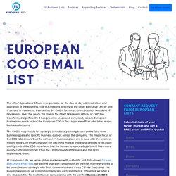 Europeans COO Mailing Database