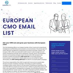 Europeans CMO Mailing Database