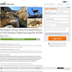 texte de la pétition: European Union stop the exploitation of the Sorbas/Tabernas aquifer NOW!