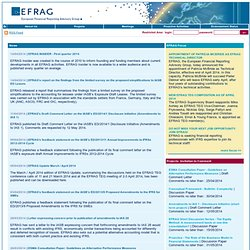 European Financial Reporting Advisory Group - EFRAG