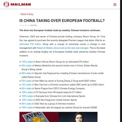 Is China Taking Over European Football?