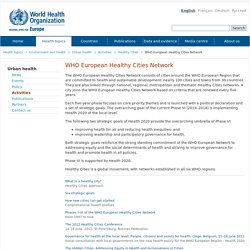 WHO European Healthy Cities Network