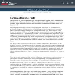 European Identities Part I