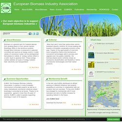 EUBIA - European Biomass Industry Association: Home