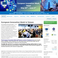 European Innovation Week in Taiwan