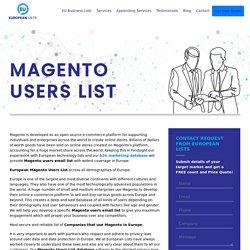 Companies using Magento in Europe
