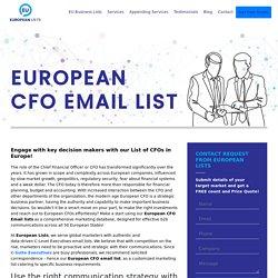 European CFO Mailing Database