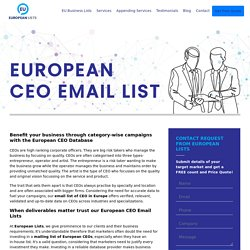 European CEO Mailing Database