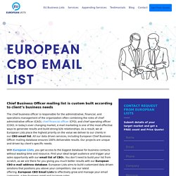 CBO mailing list of Europeans