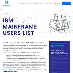 Companies using IBM Mainframe in Europe