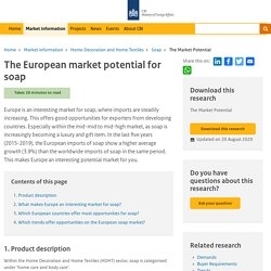 The European market potential for soap