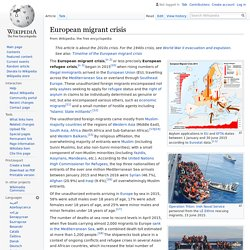 European migrant crisis - Wikipedia