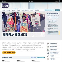 European Migration: 08/09/2015, Behind the News